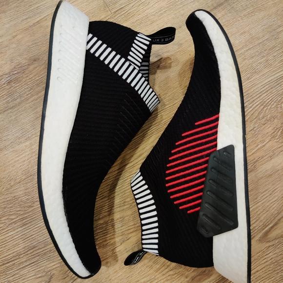 adidas Shoes   Nmd Cs2 Core Black Shock